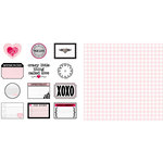 Teresa Collins - Crush Collection - Valentines - 12 x 12 Double Sided Paper - Crush Notes, CLEARANCE