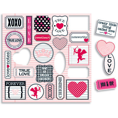 Teresa Collins - Crush Collection - Valentines - Die Cut Charms, CLEARANCE