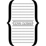 Teresa Collins - Crush Collection - Valentines - Rubber Stamp - Love Notes, CLEARANCE