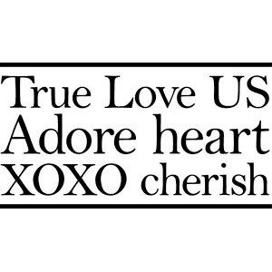 Teresa Collins - Crush Collection - Valentines - Rubber Stamp - Love Words, CLEARANCE