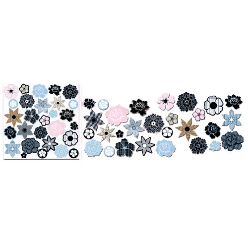 Teresa Collins - Friendship Collection - Die Cut Charms - Flowers