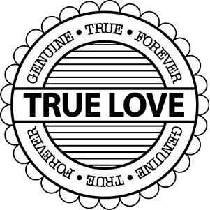 Teresa Collins - Crush Collection - Valentines - Rubber Stamp - True Love, CLEARANCE