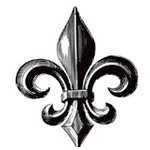 Teresa Collins - Cling Mounted Rubber Stamp - Family Fleur de Lis