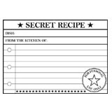 Teresa Collins - Cling Mounted Rubber Stamp - Secret Recipe