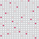 Teresa Collins - Crush Collection - Valentines - 8 x 8 Transparency - Mini Hearts, CLEARANCE
