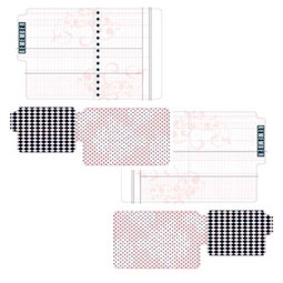 Teresa Collins - Journal-it Girl Collection - Die Cut File Folders - 3 Pack
