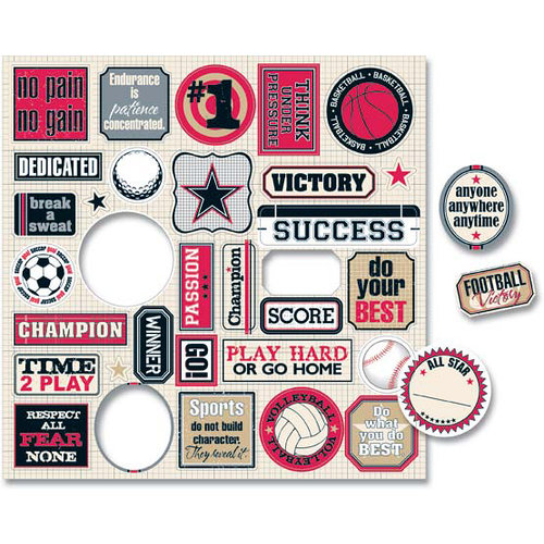 Teresa Collins - Sports Edition Collection - Die Cut Charms