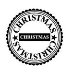 Teresa Collins - Tis the Season Christmas Collection - Rubber Stamps - Christmas Circle, CLEARANCE
