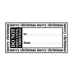 Teresa Collins - Tis the Season Christmas Collection - Rubber Stamps - Gift Tag, CLEARANCE
