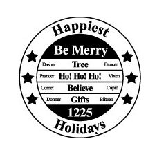 Teresa Collins - Tis the Season Christmas Collection - Rubber Stamps - Happiest Holidays, CLEARANCE