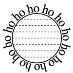 Teresa Collins - Tis the Season Christmas Collection - Rubber Stamps - Ho Ho Ho Circle, CLEARANCE
