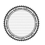 Teresa Collins - Spooktacular Halloween Collection - Rubber Stamps - Halloween Circle, CLEARANCE