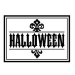 Teresa Collins - Spooktacular Halloween Collection - Rubber Stamps - Halloween Frame, CLEARANCE