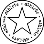 Teresa Collins - Sports Edition Collection - Cling Mounted Rubber Stamp - Athlete, CLEARANCE