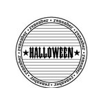 Teresa Collins - Spooktacular Halloween Collection - Rubber Stamps - Journal Circle, CLEARANCE