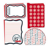 Teresa Collins - Tis the Season Collection - 12 x 12 Die Cuts - Christmas - Snowflake, CLEARANCE