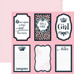 Teresa Collins - Chic Bebe Girl Collection - 12 x 12 Double Sided Paper - Notes, CLEARANCE