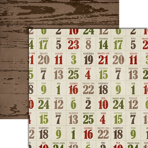 Teresa Collins - Christmas Cottage Collection - 12 x 12 Double Sided Paper - Countdown