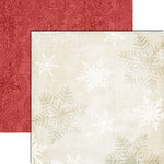 Teresa Collins - Christmas Cottage Collection - 12 x 12 Double Sided Paper - Snowflakes