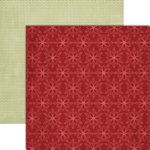 Teresa Collins - Christmas Cottage Collection - 12 x 12 Double Sided Paper - Red Snowflakes