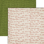 Teresa Collins - Christmas Cottage Collection - 12 x 12 Double Sided Paper - Sentiments