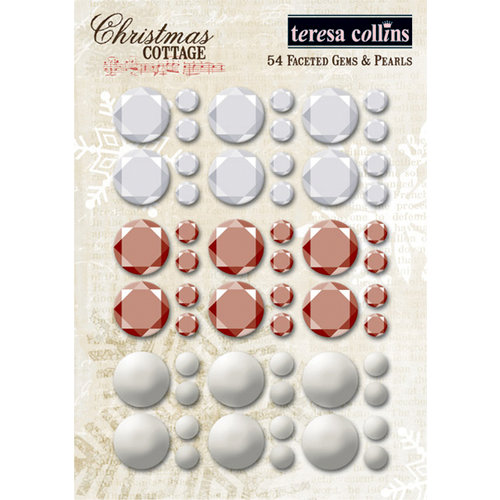Teresa Collins Designs - Christmas Cottage Collection - Faceted Rhinestones