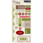 Teresa Collins - Christmas Cottage Collection - Die Cut Chipboard Stickers - Elements 1