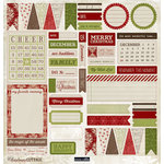 Teresa Collins - Christmas Cottage Collection - 12 x 12 Die Cut Paper