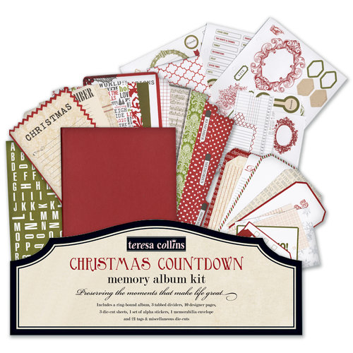 Teresa Collins - Christmas Cottage Collection - Christmas Countdown Memory Album Kit