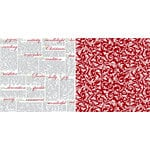 Teresa Collins - Christmas Home Collection - 12 x 12 Double Sided Paper - Notes