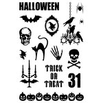 Teresa Collins - Haunted Hallows Collection - Halloween - Clear Acrylic Stamps - Haunted Hallows