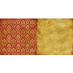 Teresa Collins - Noel Collection - Christmas - 12 x 12 Double Sided Paper - Red Damask