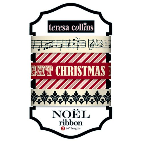 Teresa Collins - Noel Collection - Christmas - Ribbon, CLEARANCE
