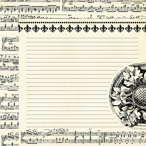 Teresa Collins - Notations Collection - 12 x 12 Double Sided Paper - Music