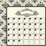 Teresa Collins - Notations Collection - 12 x 12 Double Sided Die Cut Paper - Calendar