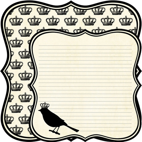 Teresa Collins - Notations Collection - 12 x 12 Double Sided Die Cut Paper - Bird