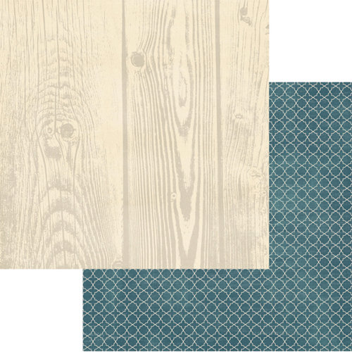 Teresa Collins - Now And Then Collection - 12 x 12 Double Sided Paper - Wood Grain