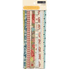 Teresa Collins Designs - Now And Then Collection - Border Strips with Glitter Accents