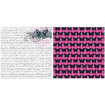 Teresa Collins - Posh Collection - 12 x 12 Double Sided Paper - Butterfly Script
