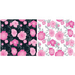 Teresa Collins - Posh Collection - 12 x 12 Double Sided Paper - Posh Flower