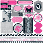 Teresa Collins - Posh Collection - 12 x 12 Die Cut Paper