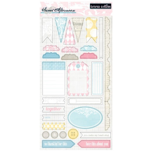 Teresa Collins - Sweet Afternoon Collection - Die Cut Cardstock 2
