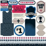 Teresa Collins - Sports Edition II Collection - 12 x 12 Die Cut Paper