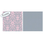 Teresa Collins - Timeless Collection - 12 x 12 Double Sided Paper with Flocked Accents - Pink Damask