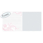 Teresa Collins - Timeless Collection - 12 x 12 Double Sided Paper with Flocked Accents - Pink Journal