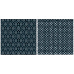 Teresa Collins - Timeless Collection - 12 x 12 Double Sided Paper - Black Damask