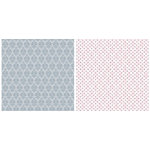 Teresa Collins - Timeless Collection - 12 x 12 Double Sided Paper - Gray Damask