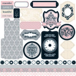 Teresa Collins - Timeless Collection - 12 x 12 Die Cut Paper