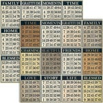 Teresa Collins - Vintage Finds Collection - 12 x 12 Double Sided Paper - Bingo