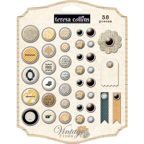 Teresa Collins - Vintage Finds Collection - Decorative Brads